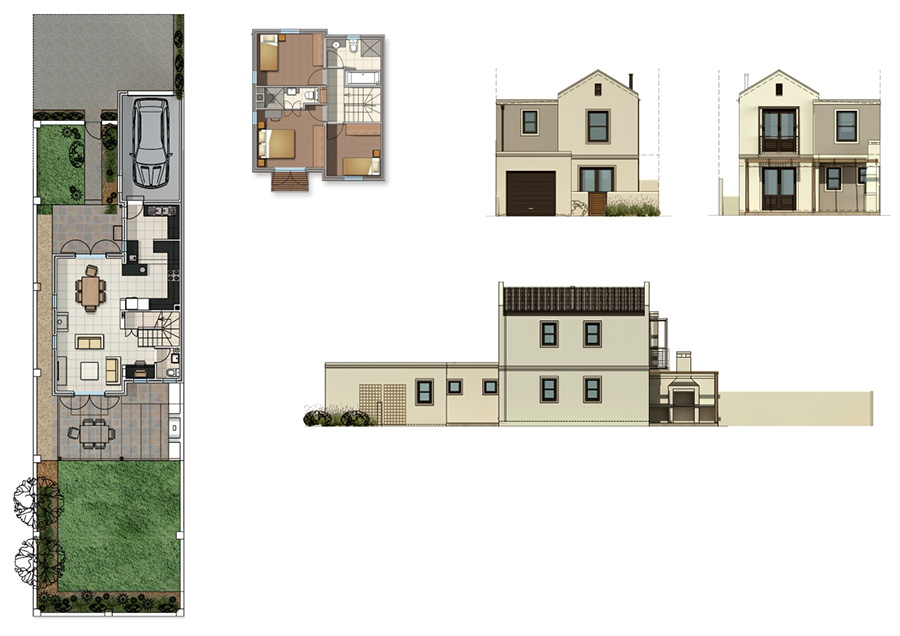 Plans for row houses Home design and style